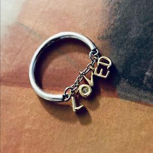 Loved Script Ring